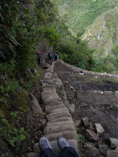 escaleras a Huayna Picchu Peru