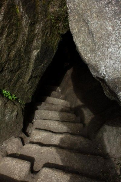 escaleras de acceso a huayna picchu