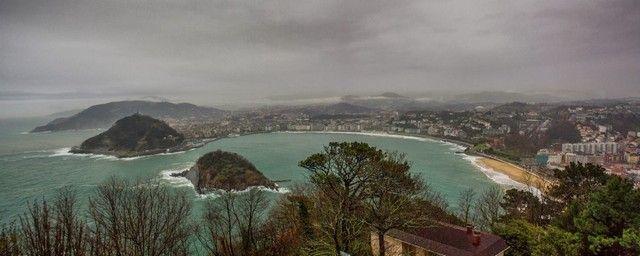 San Sebastian en un día de lluvia.