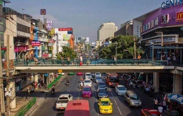 calles de bangkok tailandia