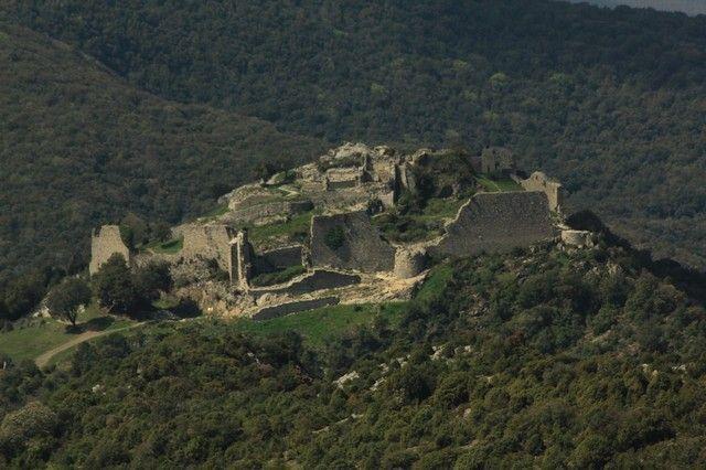 vista general castillos cataros francia