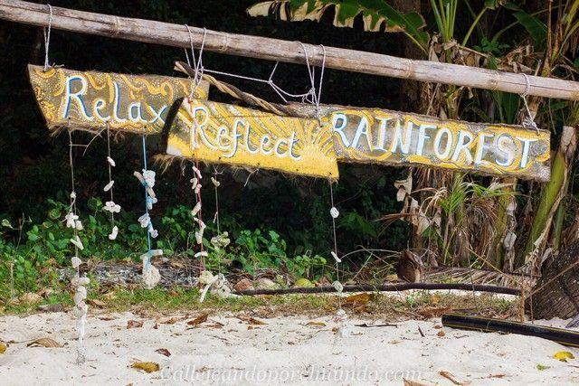 playa rainforest perhentian kecil malasia