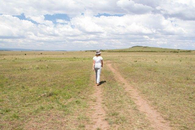 paseo a pie por masai mara kenia