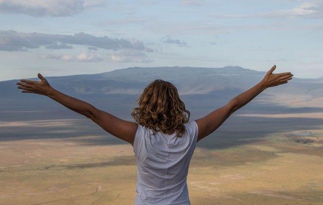 vistas del crater del Ngorongoro tanzania