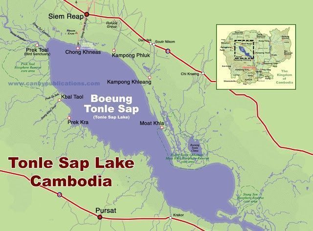 mapa tonle Sap camboya