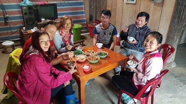 comida en la casa de cha sapa