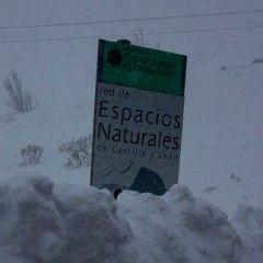 Nevando en el Puerto de Tarna (Asturias)