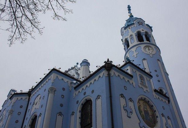 Iglesia de Santa Isabel bratislava blue church