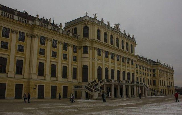 Palacio Schönbrunn en Navidad Viena