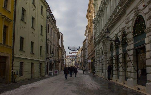calles de bratislava navidad