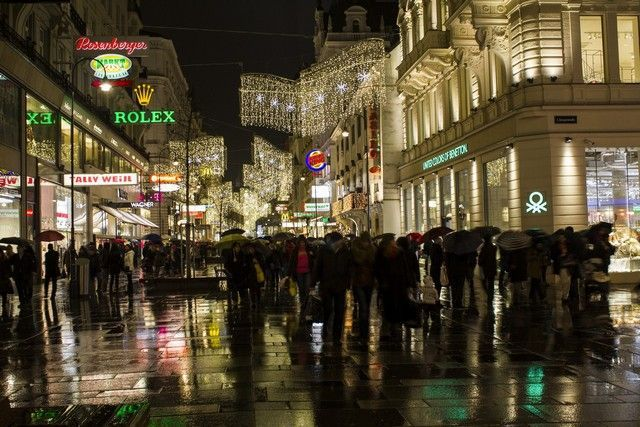 calles de viena nocturno navidad 2