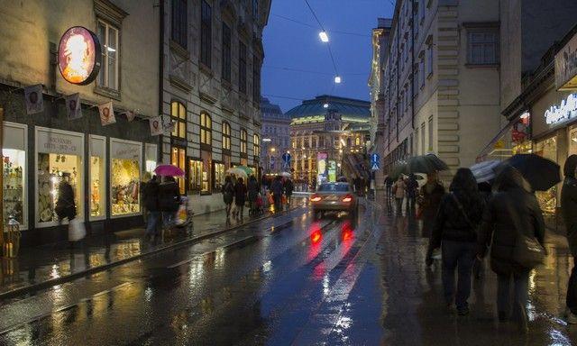 calles de viena nocturno navidad