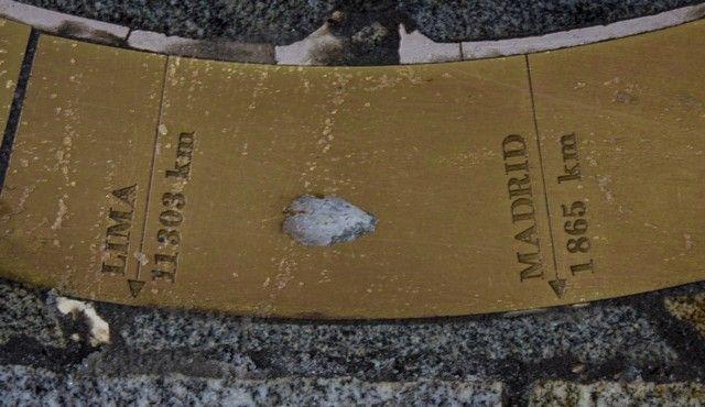detalle punto kilometrico cero bratislava