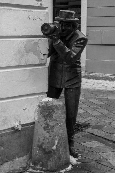 estatuas de las calles de bratislava