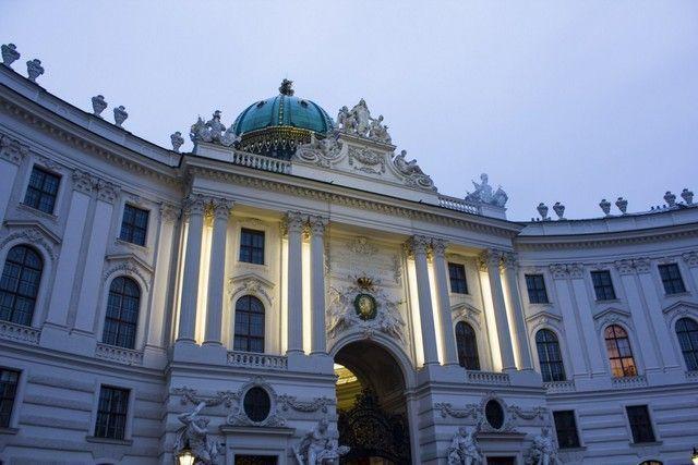 palacio de Hofburg viena navidad