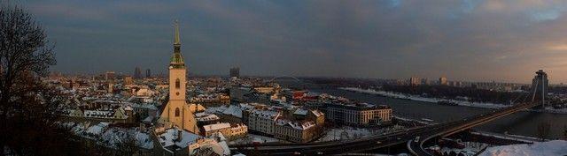 panorámica desde el castillo de bratislava
