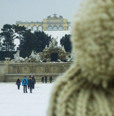 vistas de la glorieta desde Palacio Schönbrunn Viena