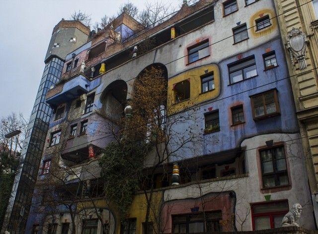 Hundertwasserhaus viena invierno