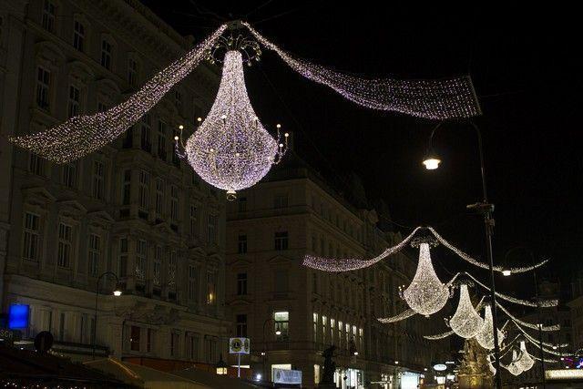 calles de viena nocturna navidad