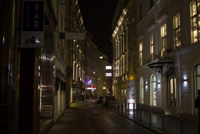 calles de viena nocturna