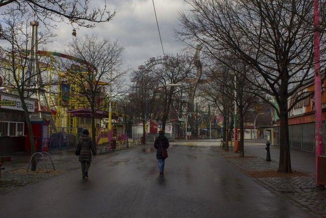 calles del prater viena invierno