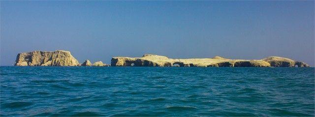 rocas en isla ballestas paracas peru