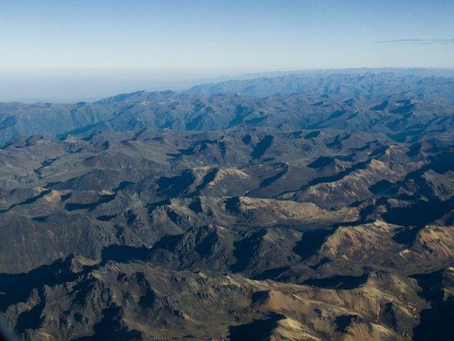 vistas aereas llegando a Lima peru