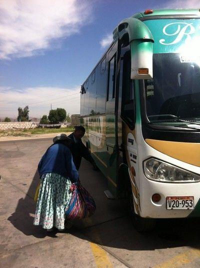 autobus de arequipa a chivay peru