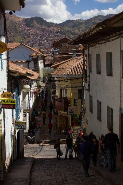 calles de cuzco ascenso a la iglesia de san blas