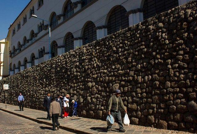 calles de cuzco mezcla inca y occidental