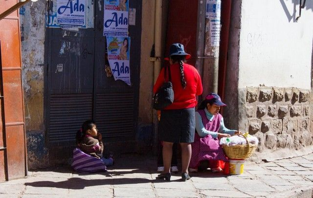 calles de cuzco peru locales