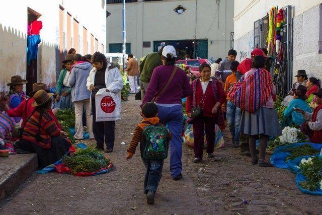 calles de cuzco peru mercado
