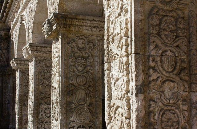 detalle del claustro de la iglesia de santo domingo arequipa