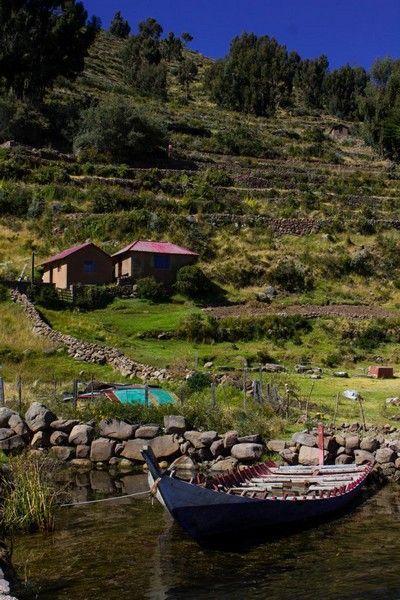 llegada a Taquile Lago Titicaca PEru