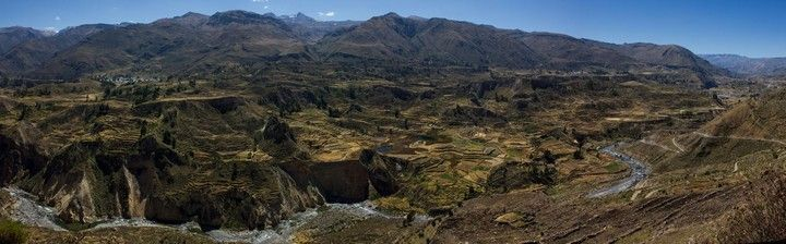 panorámica valle del colca perú