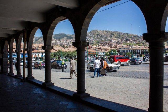 soportales plaza de armas cuzco peru