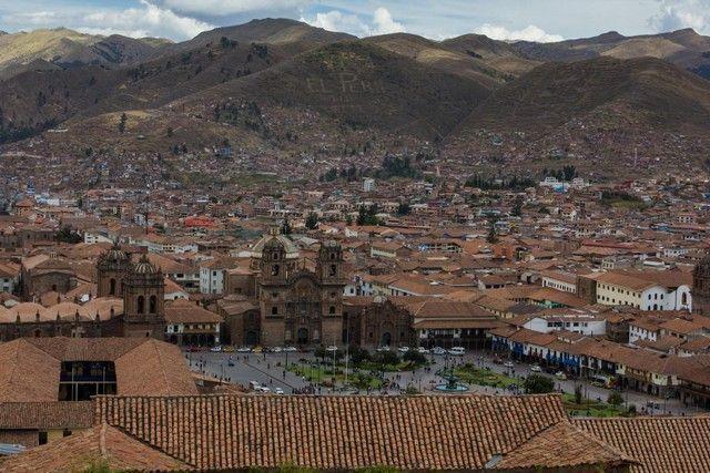 vista de la plaza de armas de cuzco peru