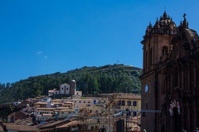 vista general catedral de cuzco y al rededores