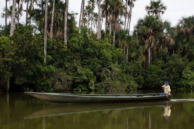 barca lago sandoval reserva tambopata peru