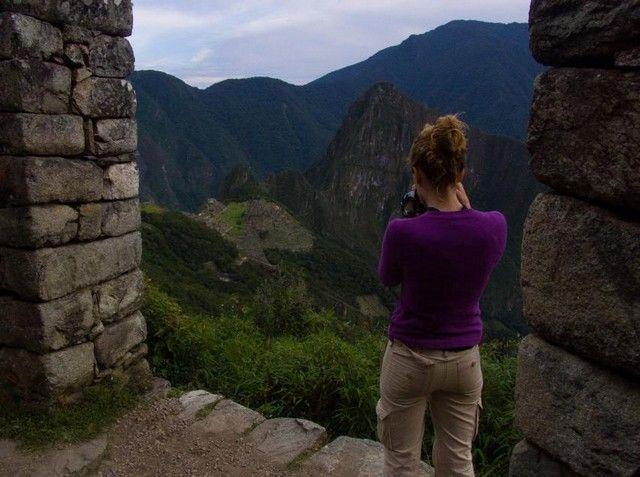 imagen puerta del sol Machu Picchu