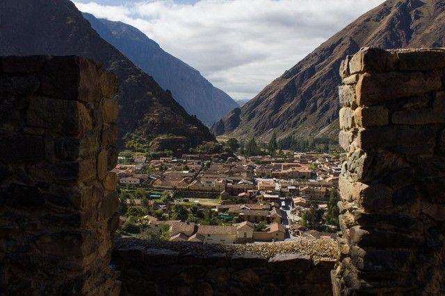 vistas de ollantaytambo desde las ruinas
