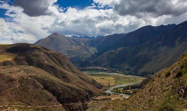 vistas desde la carretera Maras Peru