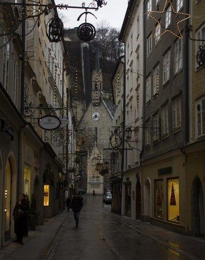 calles de Salzburgo en navidad
