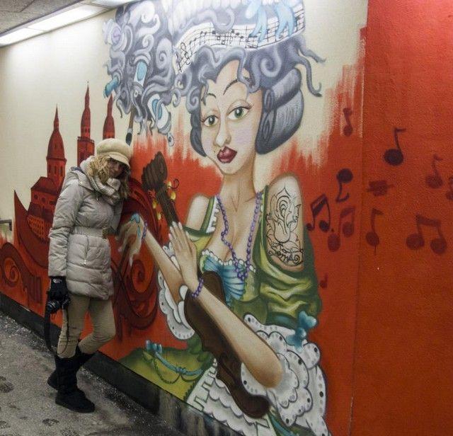 dibujos callejeros salzburgo