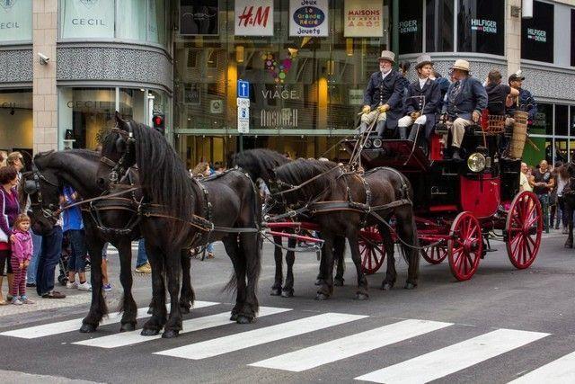carruajes por las calles de bruselas