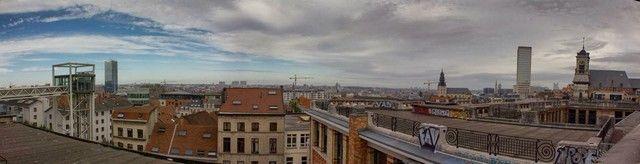 vistas de bruselas desde el palacio de justicia