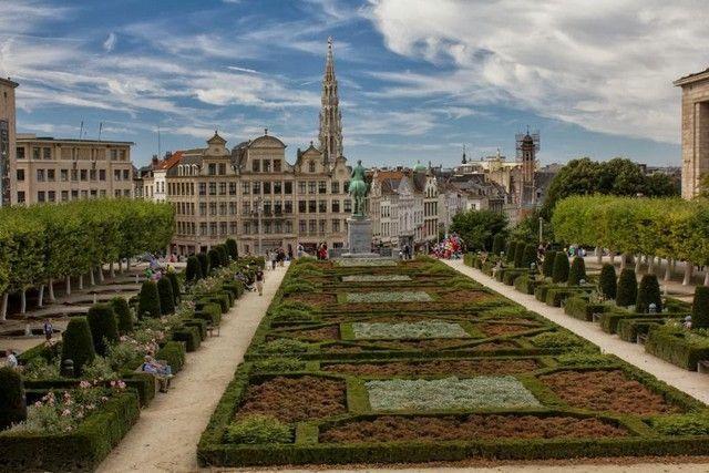 vistas desde el palacio real de bruselas