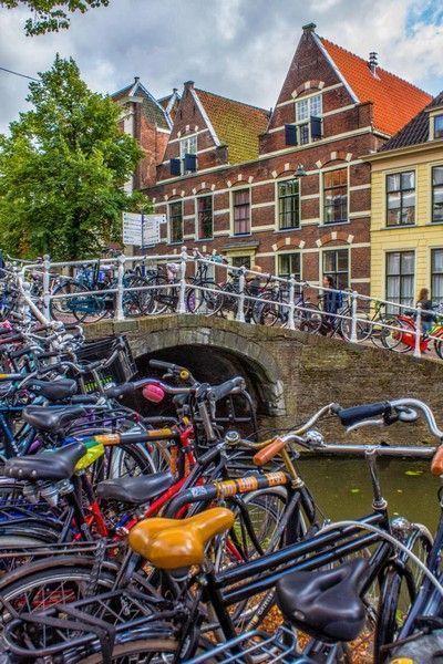 bicicletas en delft holanda