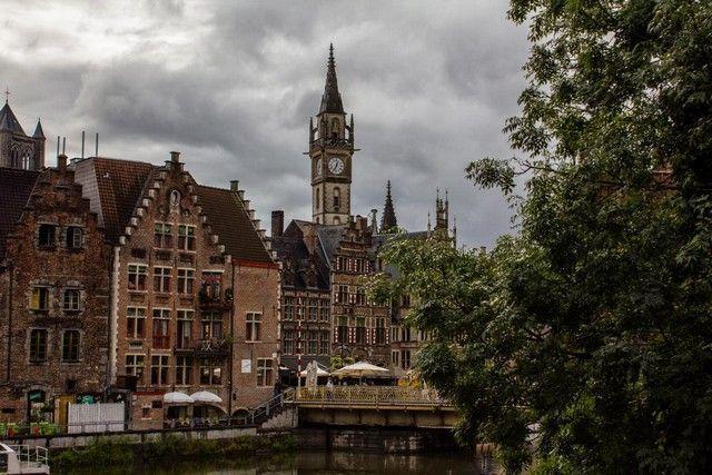 canales de gante vista general belgica