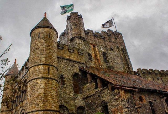 imagen general castillo de gante belgica
